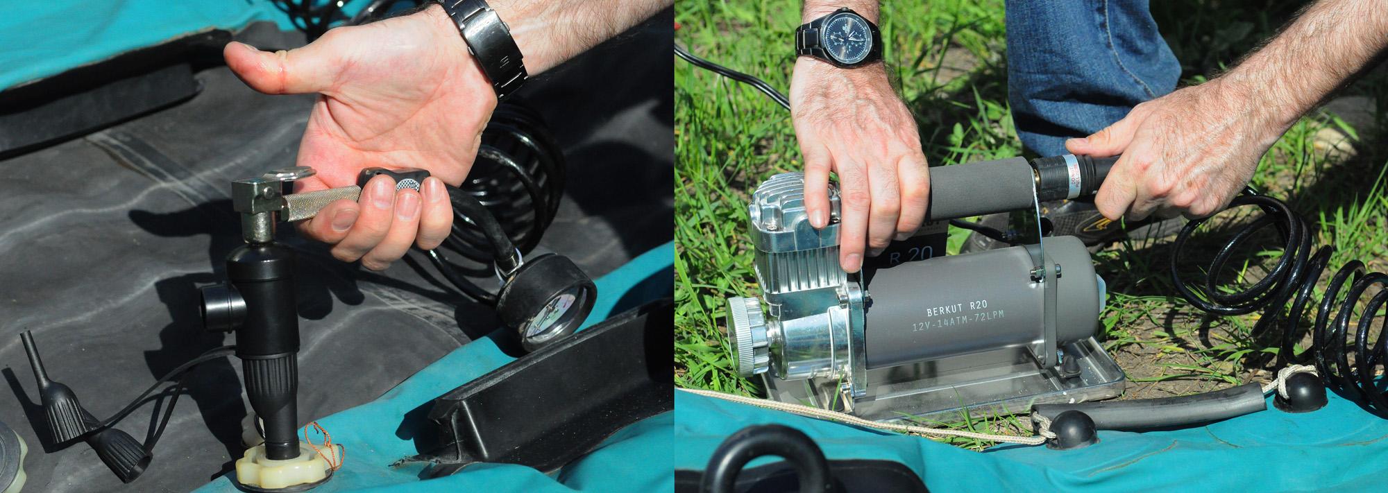 Как сделать помпу при помощи компрессора
